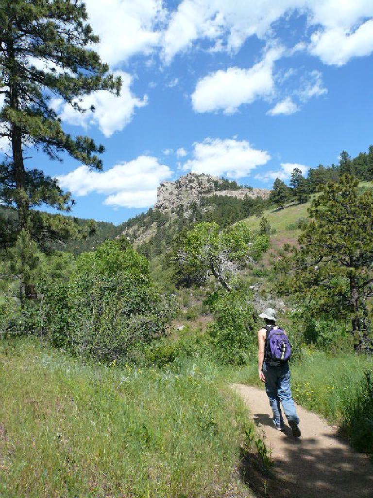Arthur's rock in view ahead.