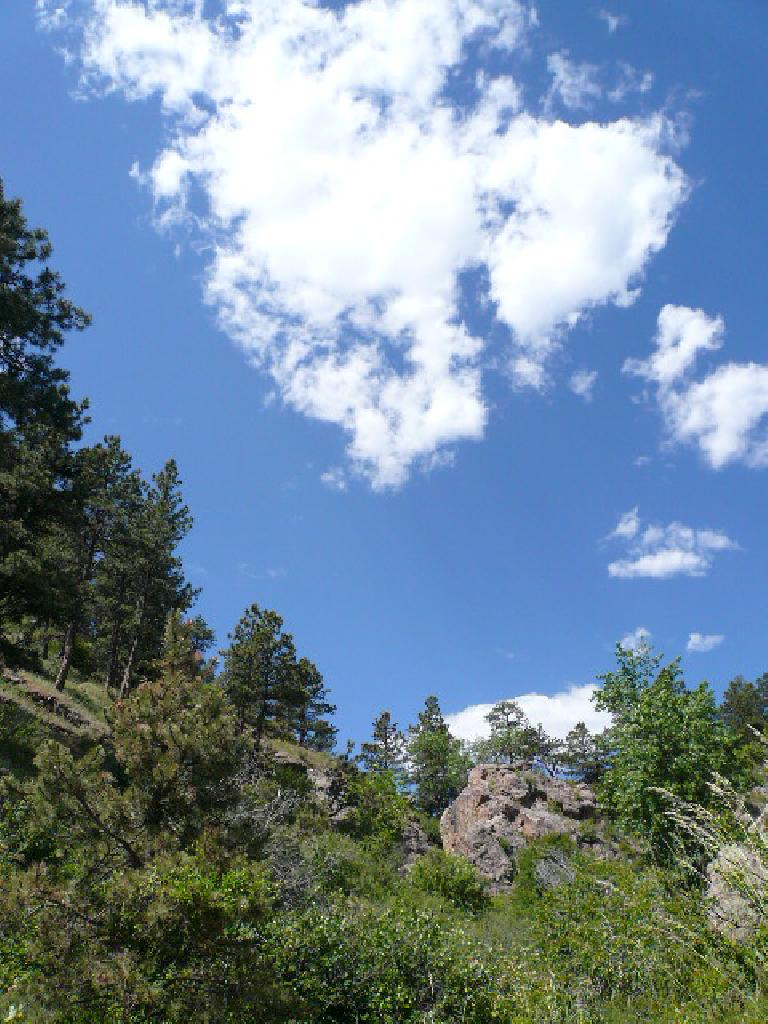 Wispy clouds over Lory State Park west of Fort Collins, where Arthur's Rock is located.