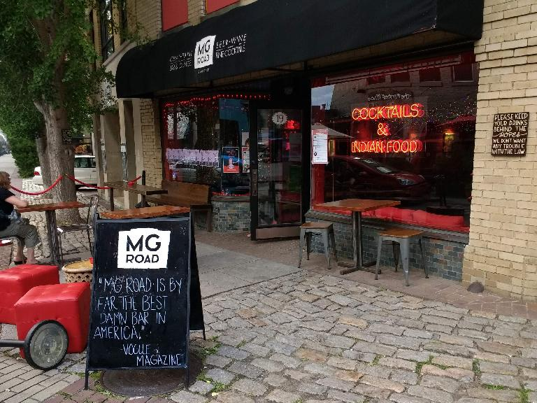 We went to the MG Road restaurant as a tip from my friend Mike. As he had warned, it did not feature any MG cars but it was a cool Indian restaurant nevertheless.