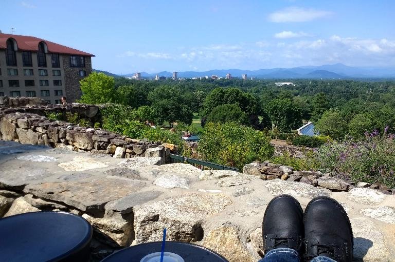 The view of Asheville from the Grove Park Inn.