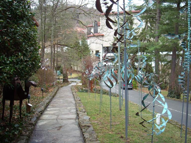 Mechanical art at the Grove Park Inn.
