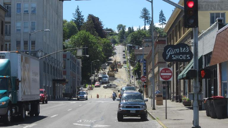 14th Street under construction, Astoria, Oregon