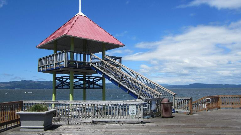 lookout tower on pier, Astoria, Oregon
