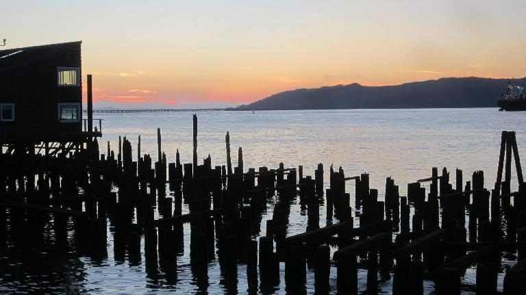 sunset over Columbia River, Astoria, Oregon