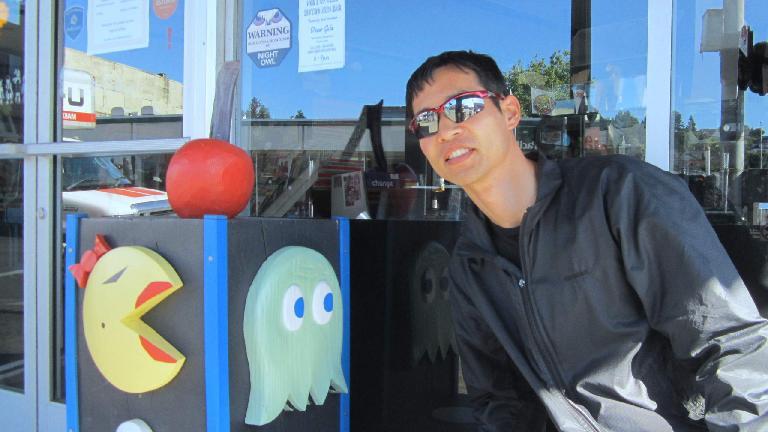 Felix Wong, Ms. Pac Man, green ghost, Astoria, Oregon