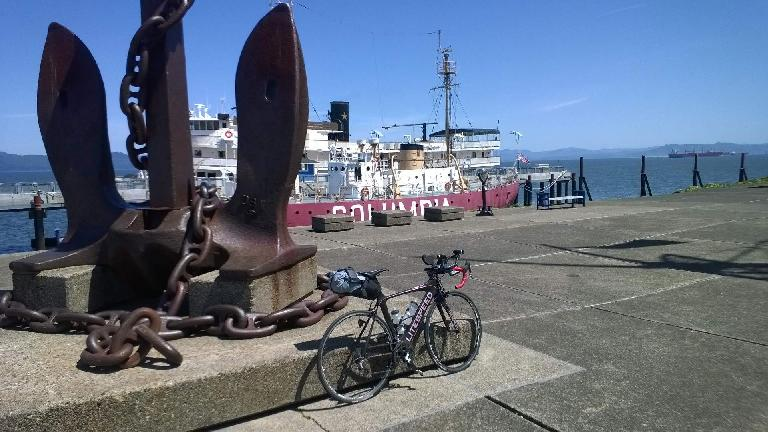 black 2010 Litespeed Archon C2, anchor, Columbia River Maritime Museum