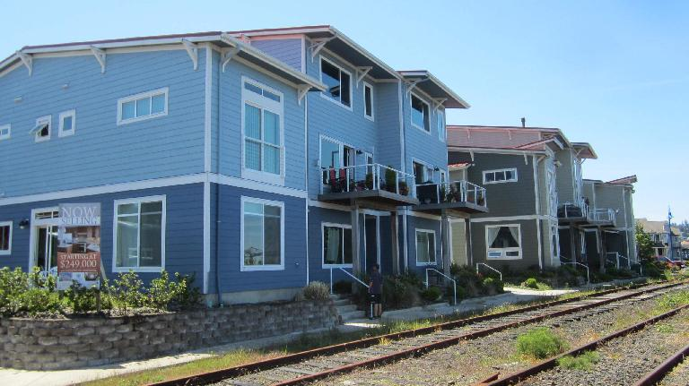 blue Columbia Landing townhomes, Astoria, Oregon