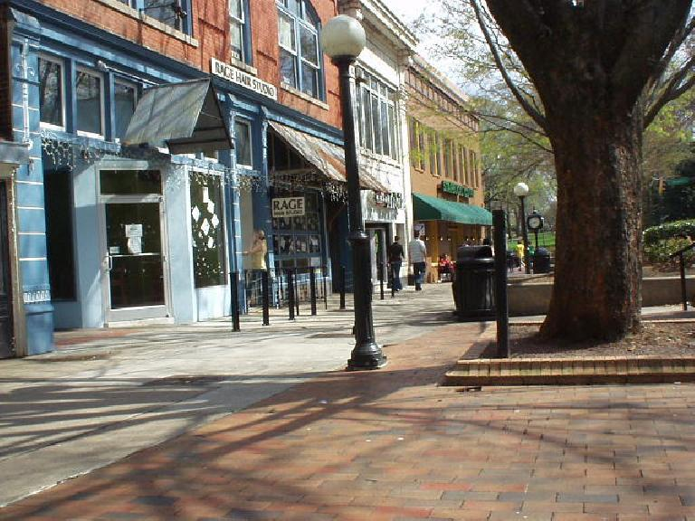 A view of downtown College Street.