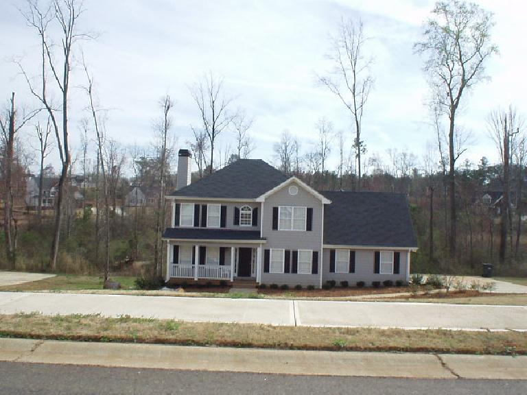 ... to large lake-front homes (this one going for $370,000).