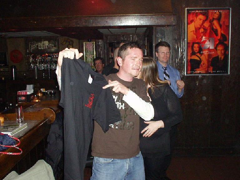 Later, Pete even got interviewed by LOGO (a gay and lesbian TV network) who was doing a documentary here!  As his reward he got a T-shirt (and had to sign a disclaimer.)