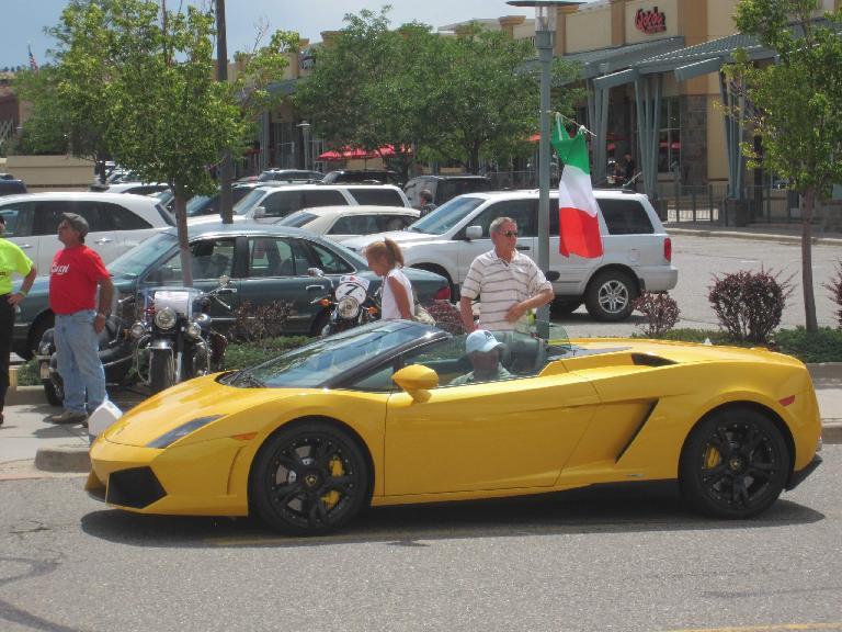 A Lamborghini Gallardo Spyder.