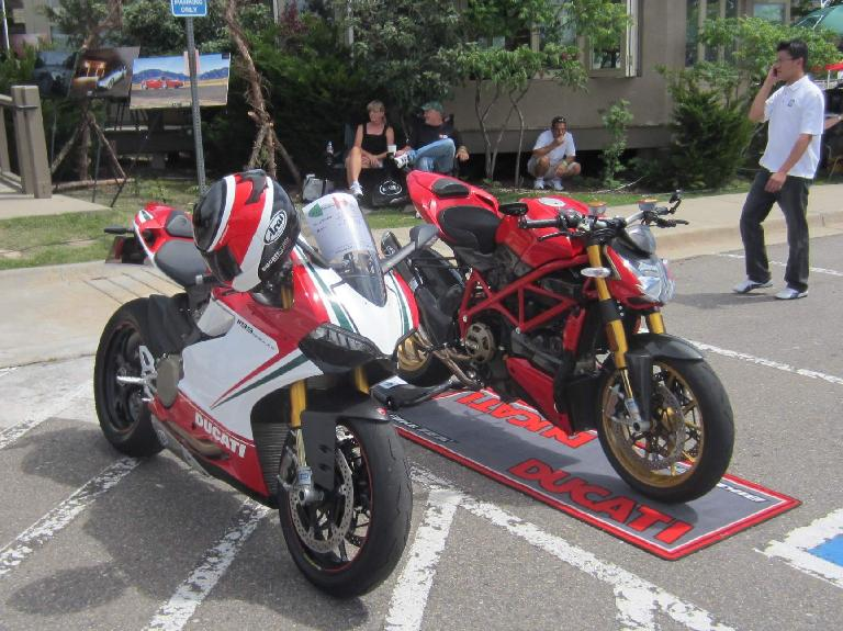 Two dream bikes: Ducati 1199 Paningale and Ducati Streetfighter.