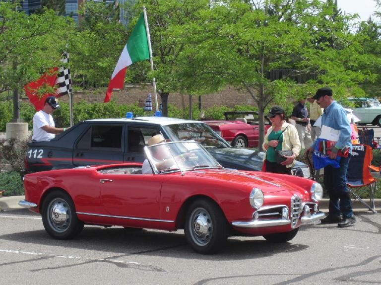An Alfa Romeo Guillieta Spider from the 1960s.