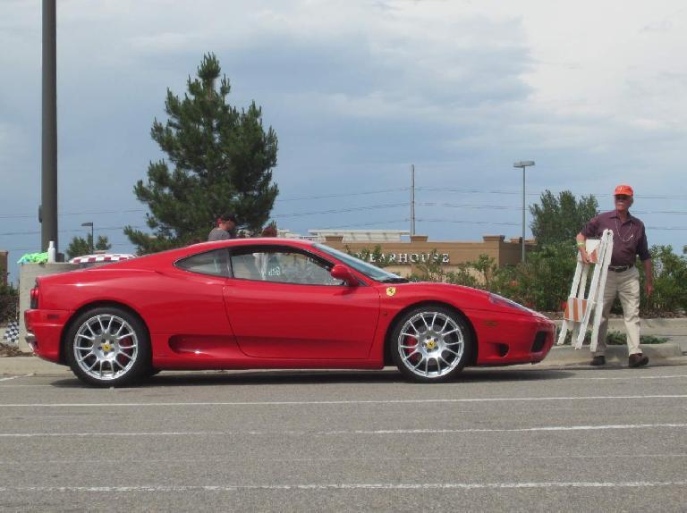 A red Ferrari 360 Modena.