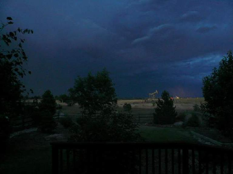 Then there were flashes of lightnight every three seconds in the distance towards Kansas, like fireworks.