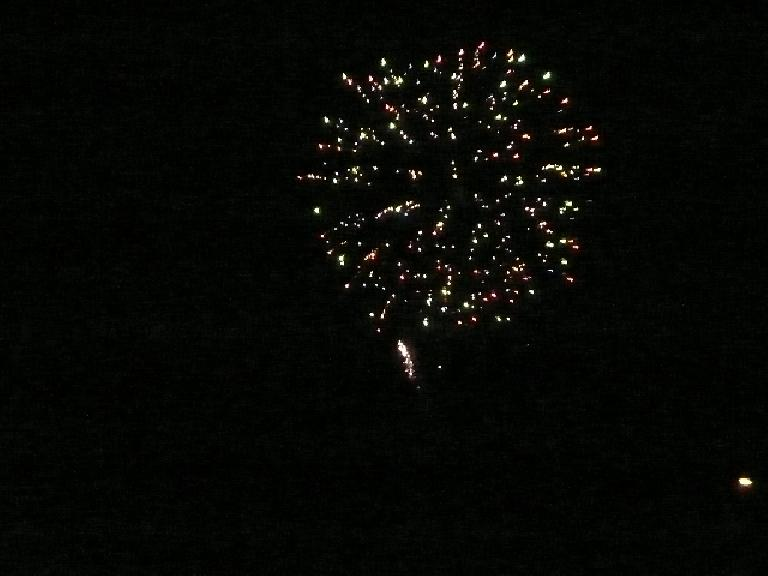 An hour later, there were real fireworks!