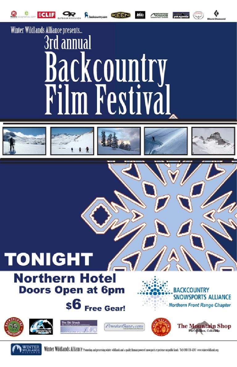 2008 Backcountry Film Festival in Fort Collins.