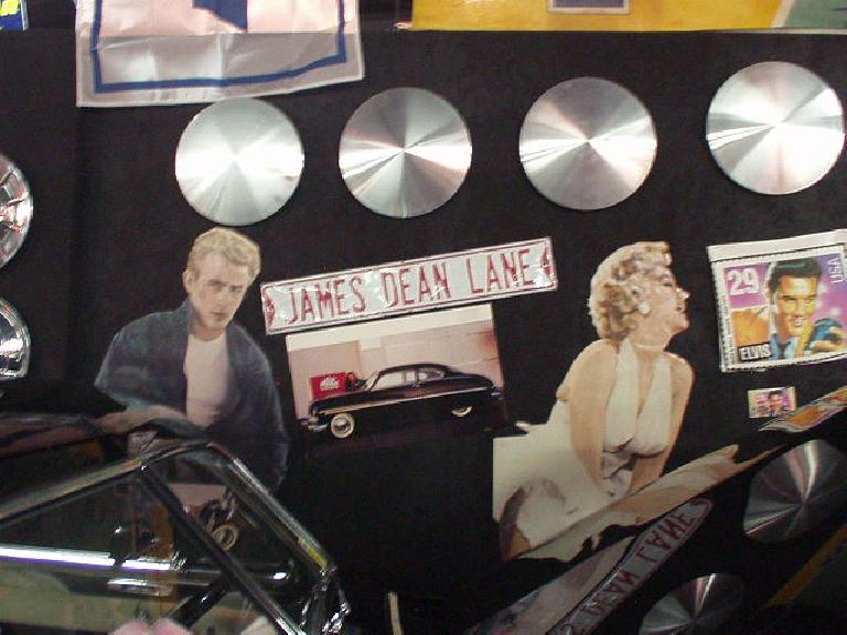 James Dean memorabilia.