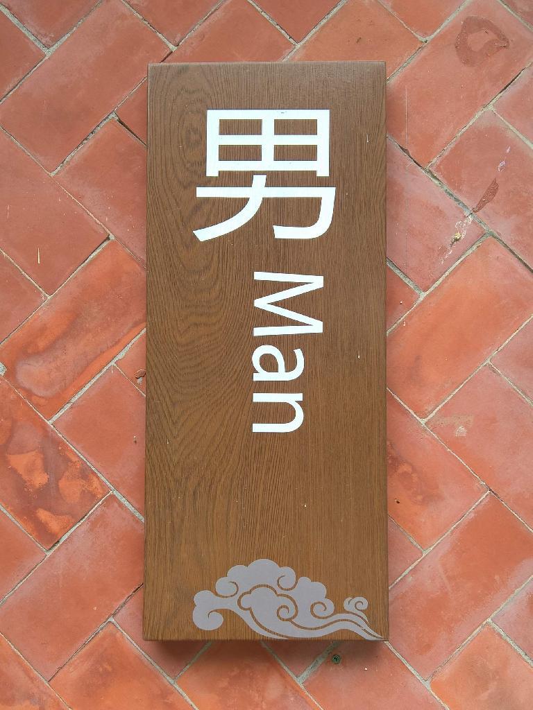 Man bathroom sign