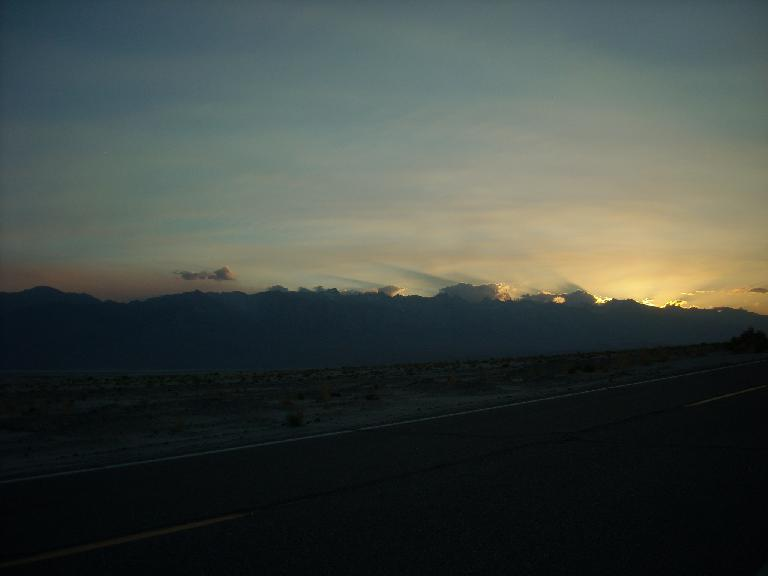 Sunset and clouds over the Sierras. (July 12, 2011)