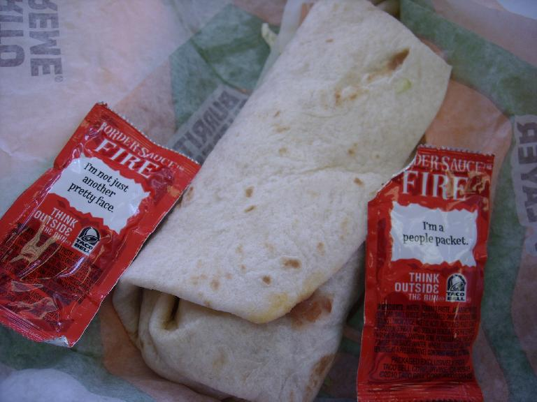 Words of wisdom on Taco Bell's fire sauce. (July 8, 2011)
