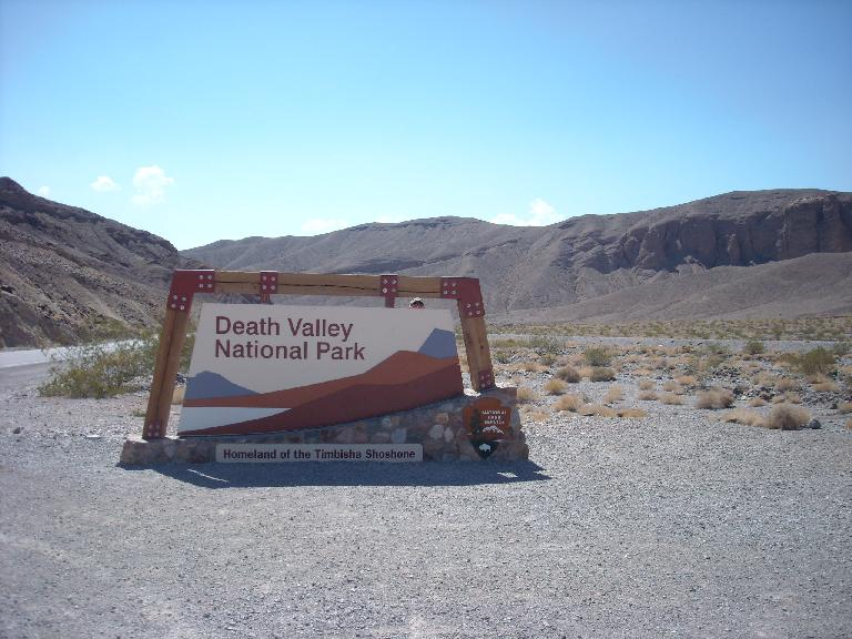 Heading into Death Valley National Park. (July 8, 2011)