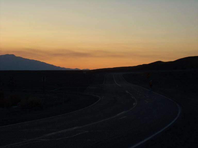 The last sunset we witnessed in Death Valley. (July 16, 2011)