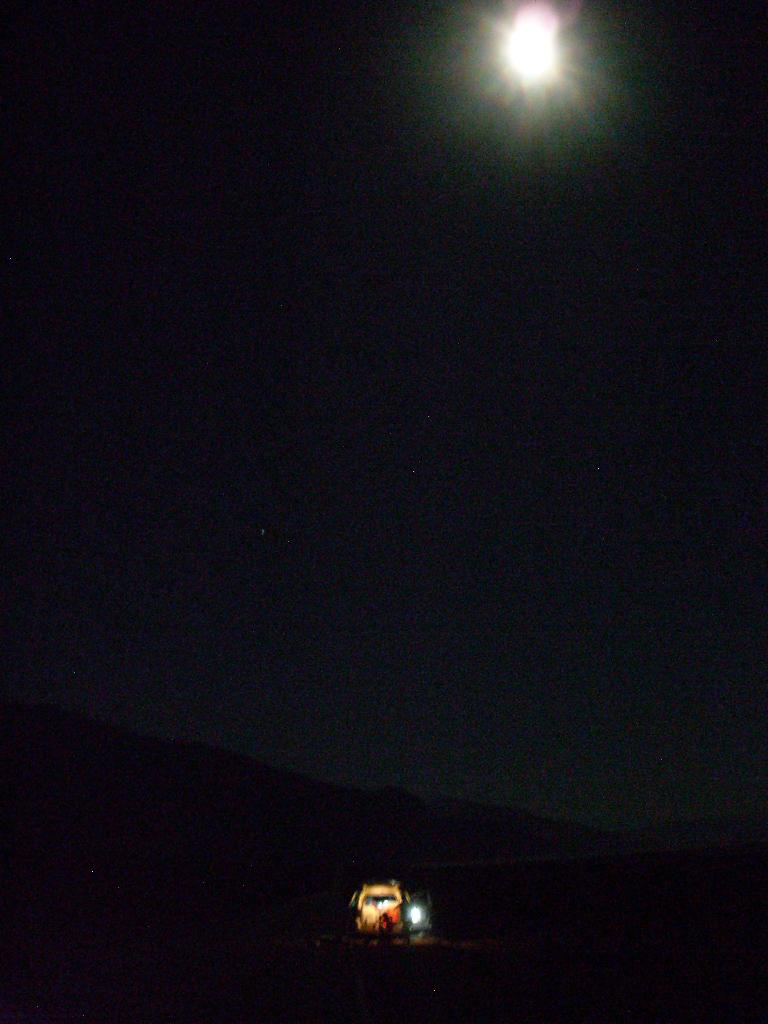 Full moon over our van. (July 17, 2011)