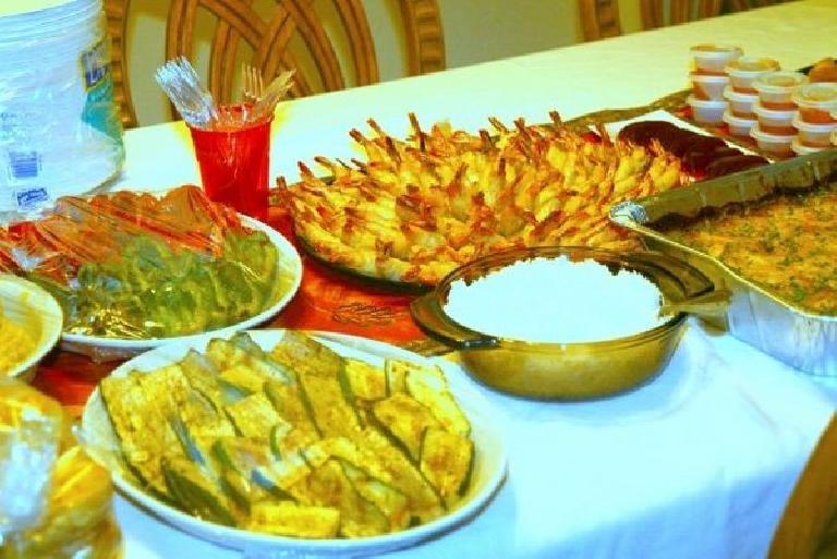 Lots of food! Photo: Bandy Nuon. (November 19, 2009)
