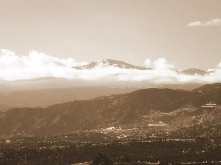 Pikes Peak towering above Colorado Springs. Photo: Bandy Nuon.