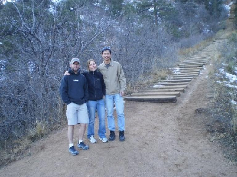 Jeremiah, Lisa and Felix Wong at the Incline.  One of these days I want to try to run up it. Photo: Bandy Nuon.