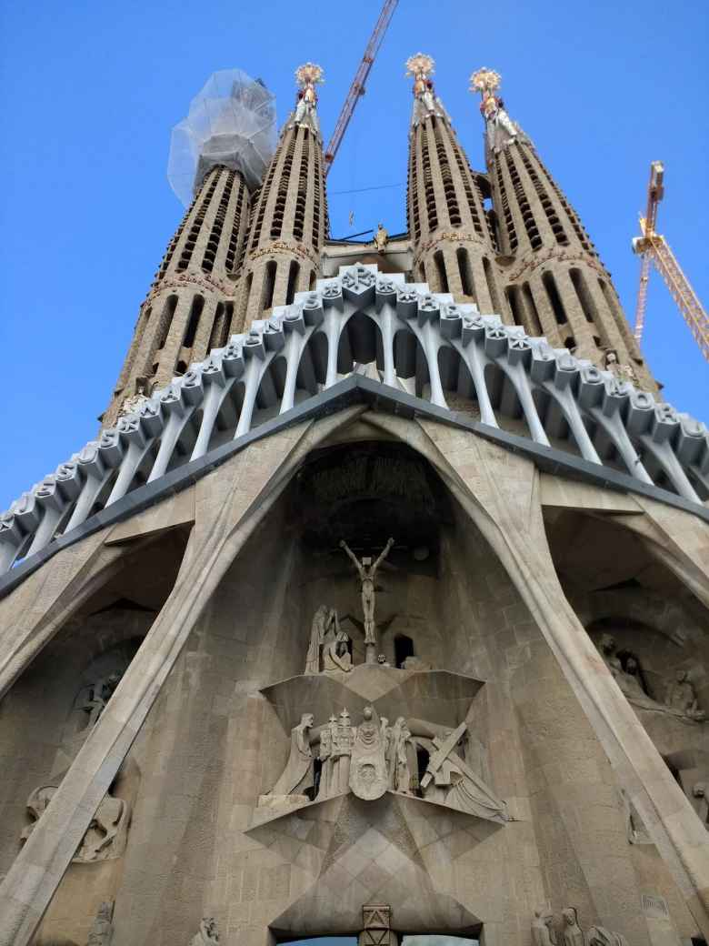 Detail of the sculptures on the southern side of La Sagrada Familia.