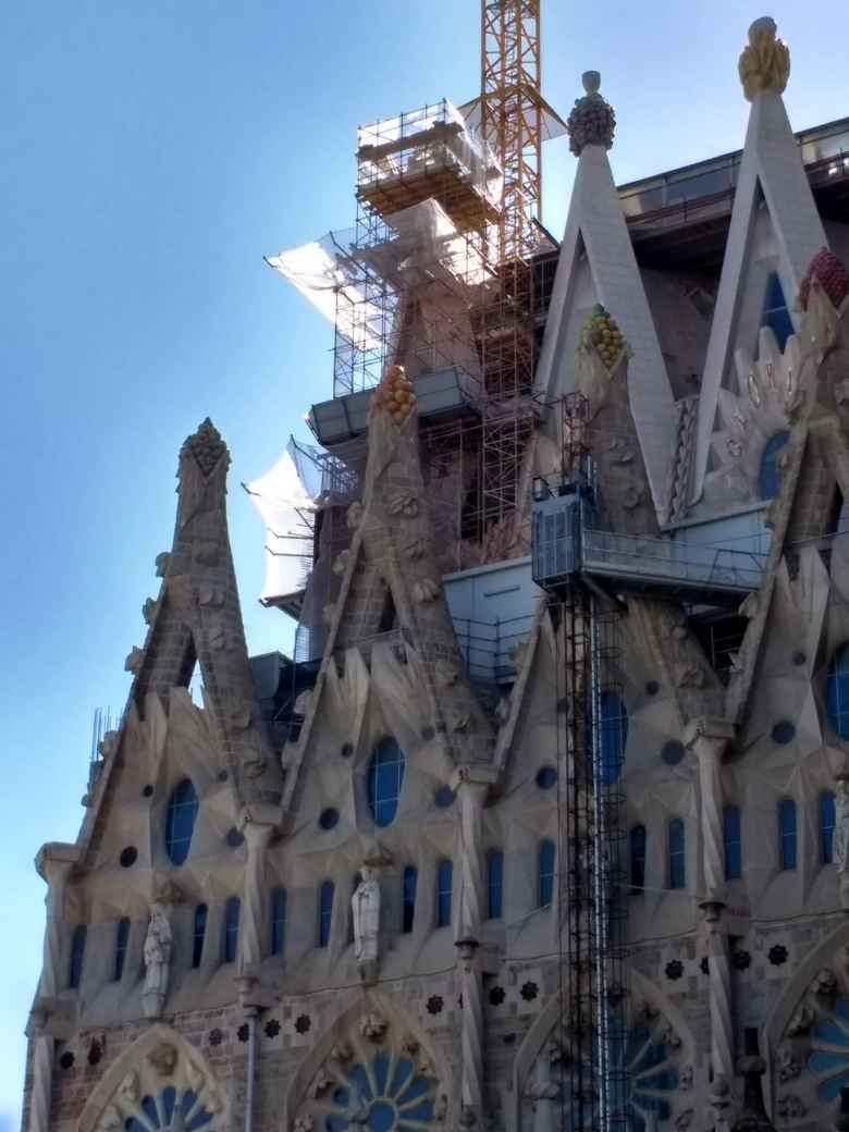 The rooftops of La Sagrada Familia.