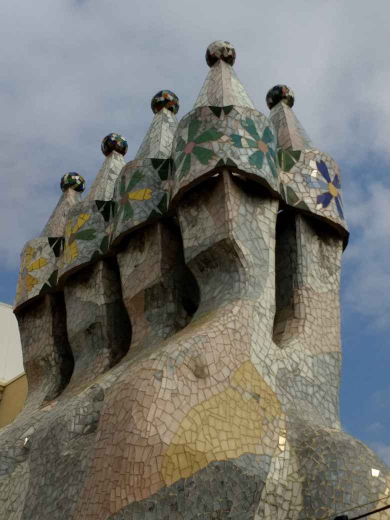 Rooftop detail of Casa Batlló.
