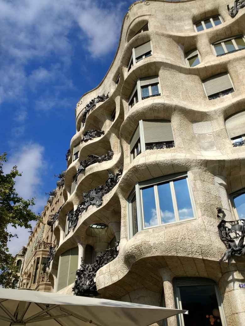 Casa Milà in Barcelona was the last private residence designed by architect Antoni Gaudí.