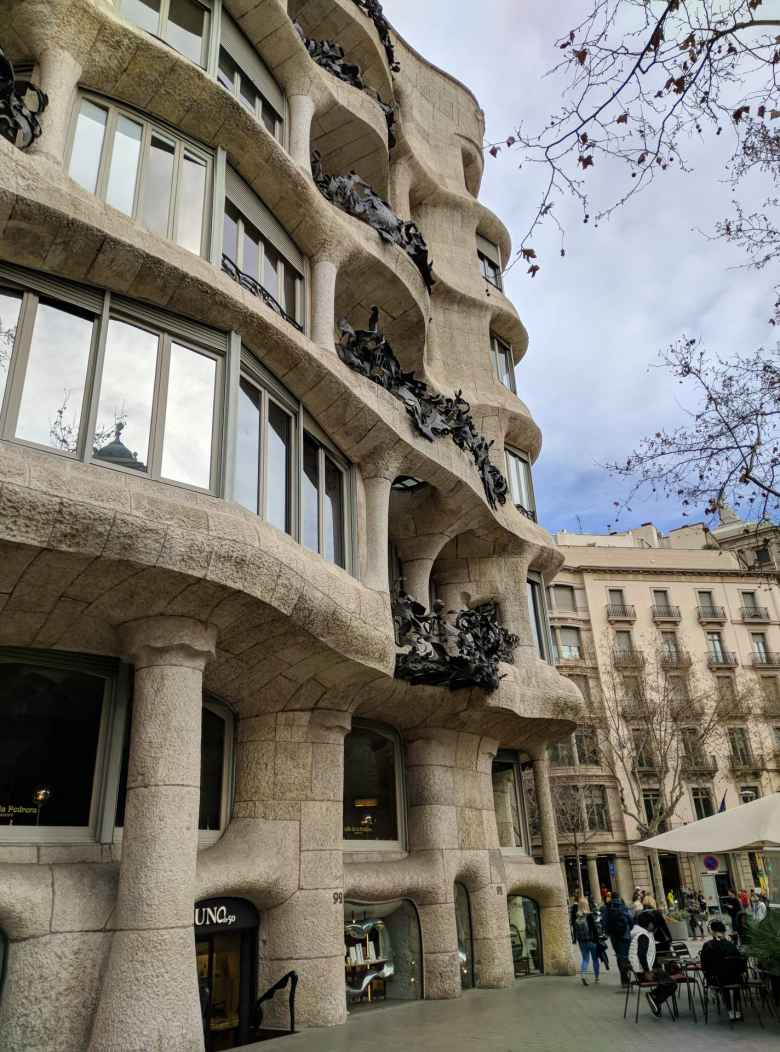 "Casa Milá was the last private residence designed by Gaudí and is popularly known as La Pedrera (""the stone quarry"")."