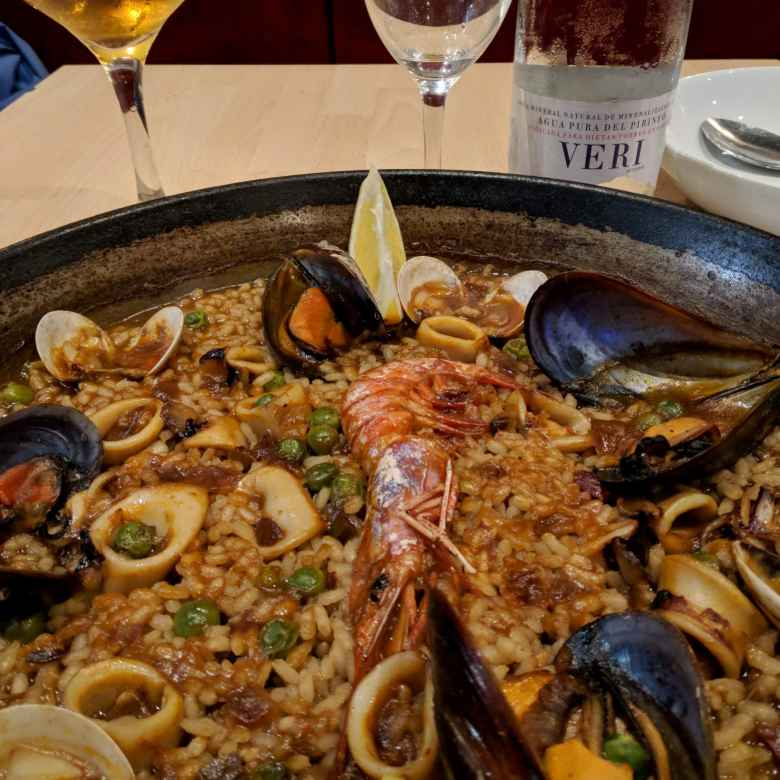 On Pi Day (March 14), I had paella with seafood.