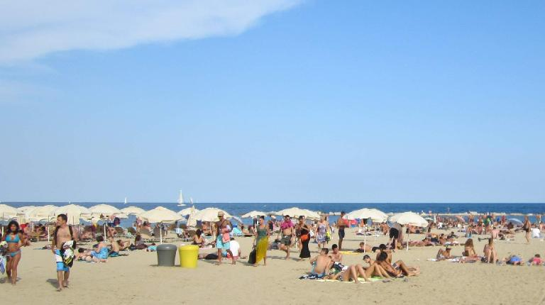 At Barceloneta beach.