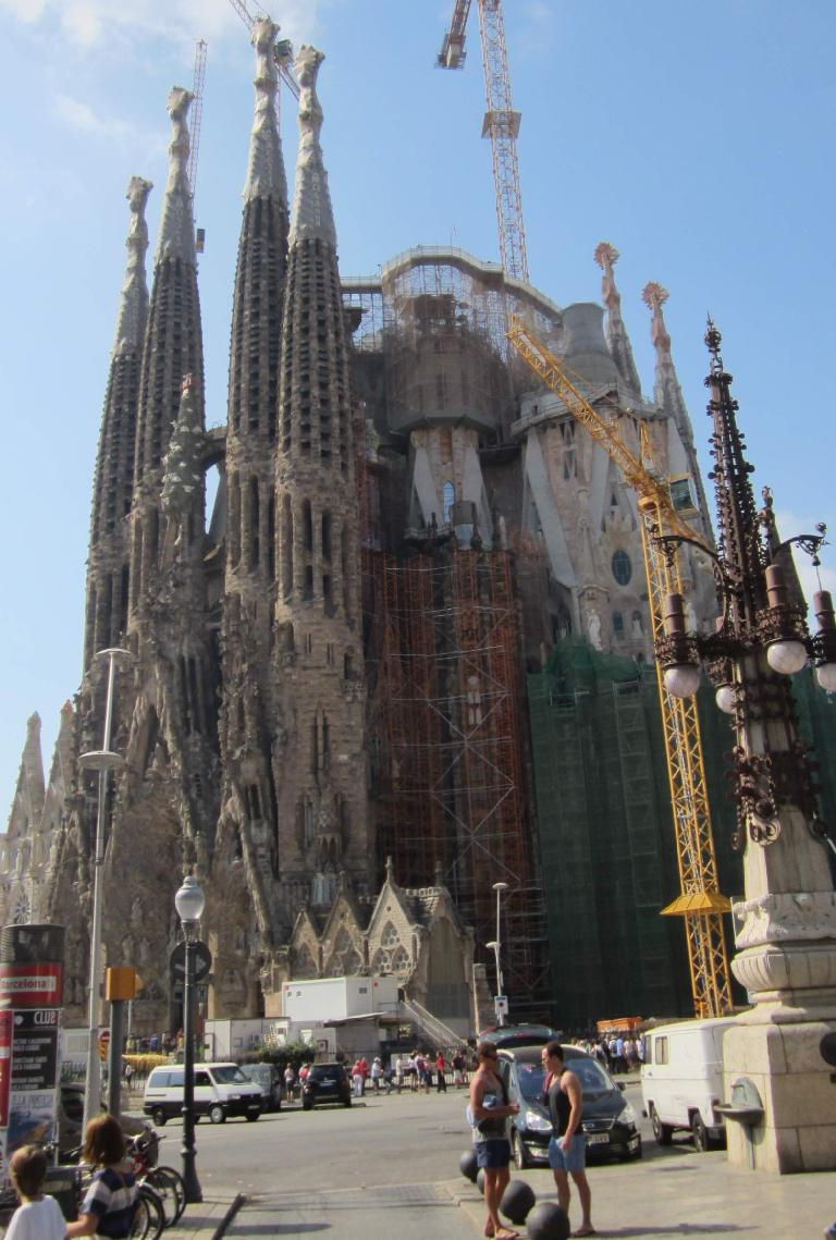 Gaudi's La Sagrada Familia is an ongoing project in Barcelona.