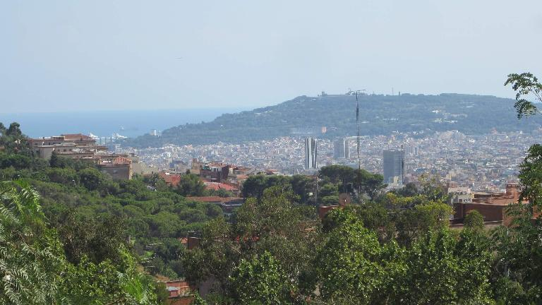 View of Barcelona from near Parc Creuta del Coll.
