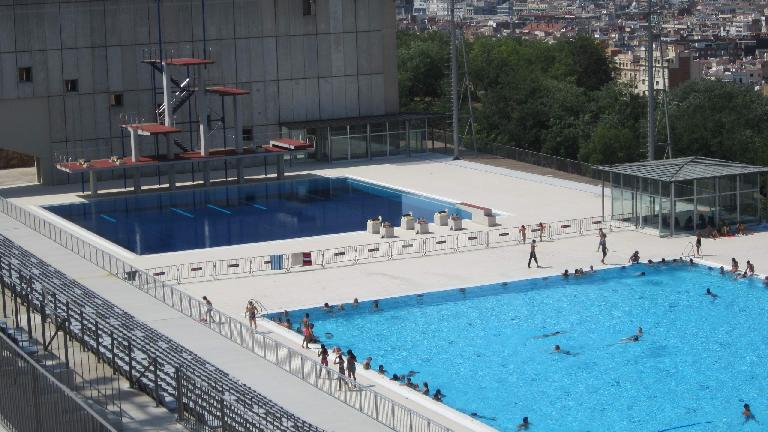 The diving and swimming area from the 1992 Olympic Games.