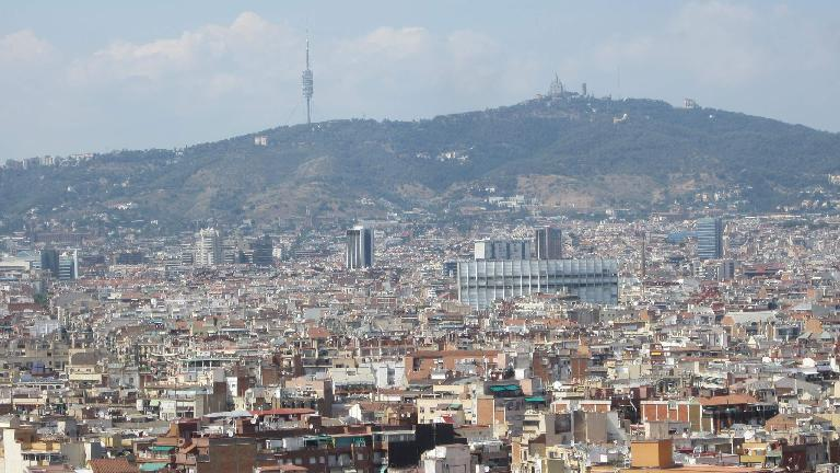 The westerly hills of Barcelona.