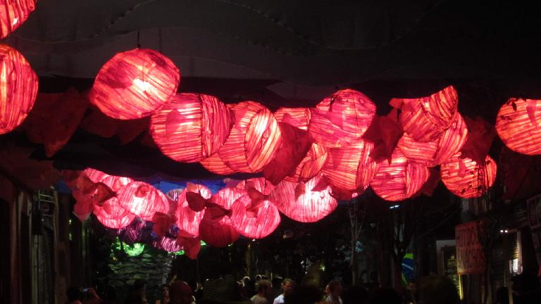Colorful lanterns.