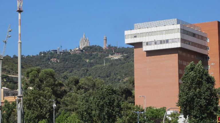 Church on a hill.