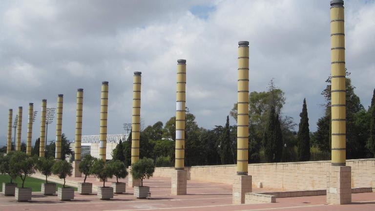 Outside the Olympic Stadium.