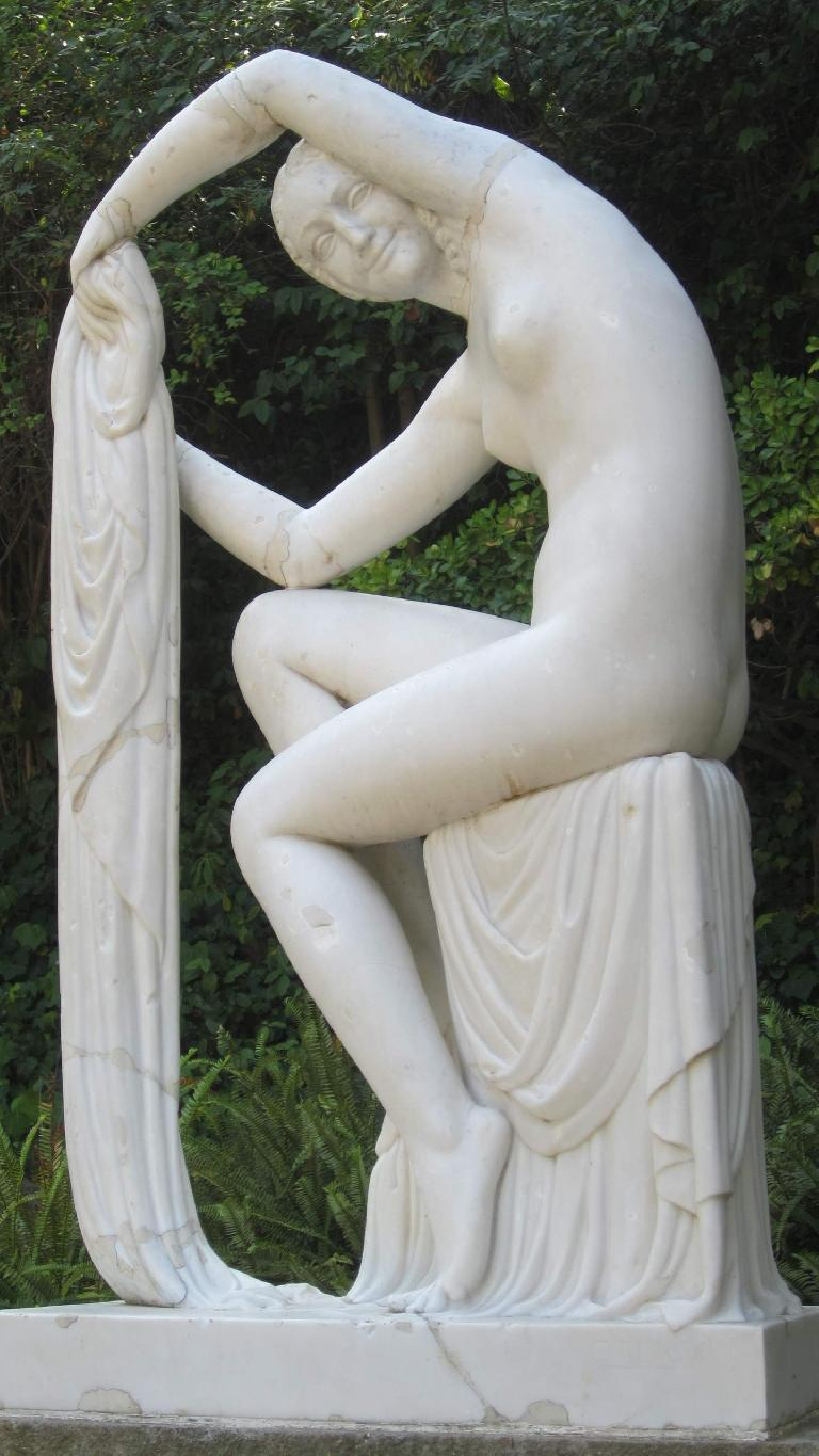 Statue in the gardens of the Olympic area.