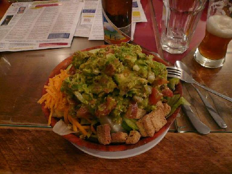 I had this salad with a ton of guacamole.  Yum!