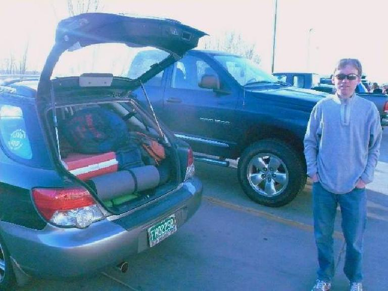 Bataan or bust!  Here's Dan before heading out to New Mexico.