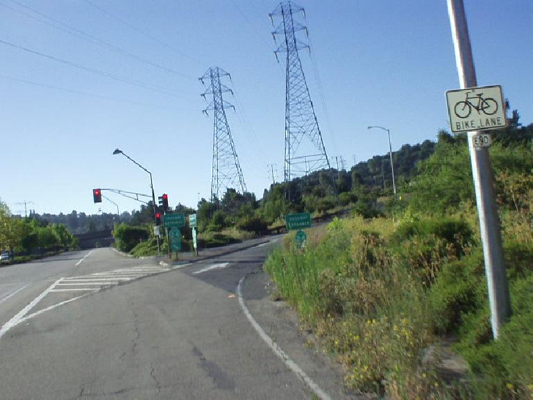 [Mile 48, 8:26 a.m.] 2nd (no wait, 3rd) highway of the day: CA-24, which was an uphill grade to Fish Ranch Rd.