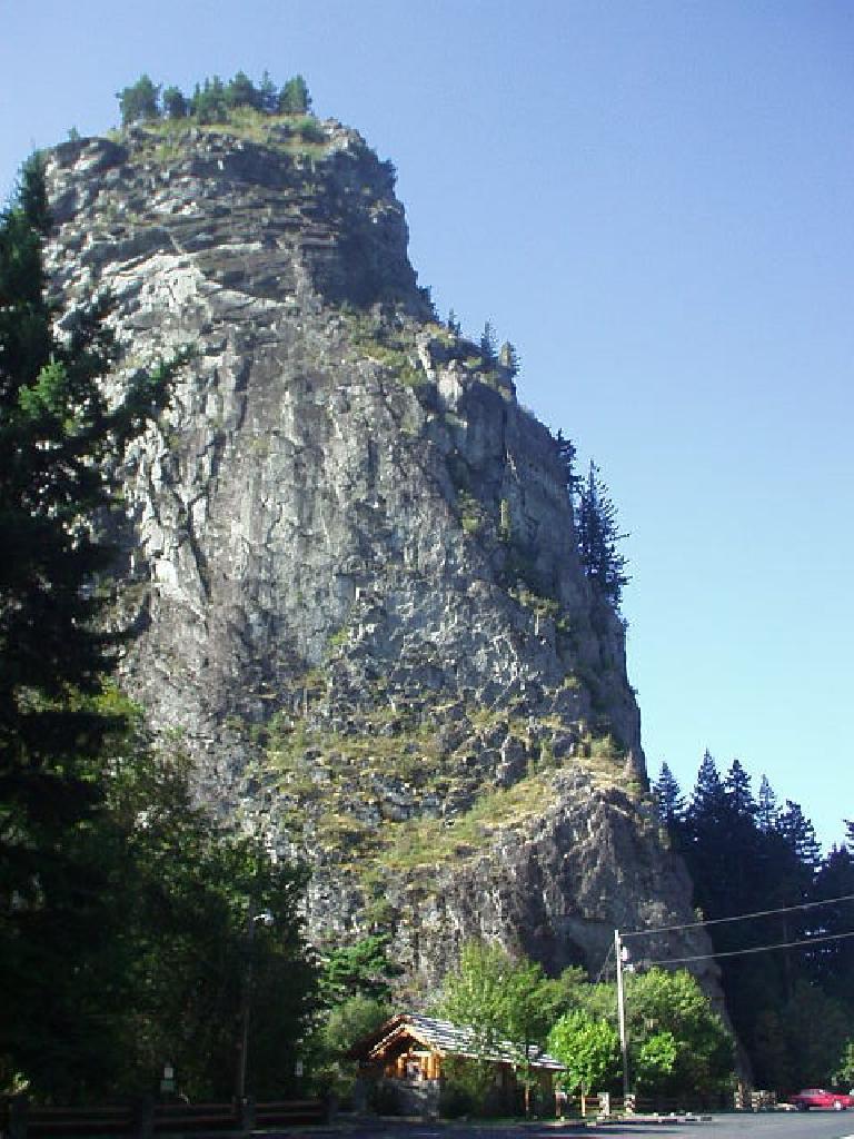 Beacon Rock is a monolith over 800 feet high and almost as large as Gibraltar!
